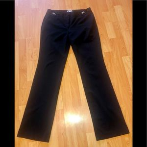 NY & Co. Black Stretch Straight Leg Trouser Pants